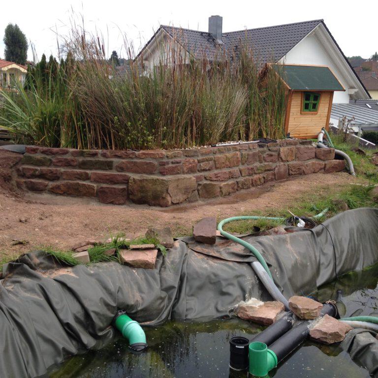 Außenteichanlage im Gartenbau
